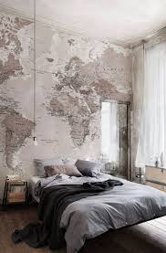 Neutral Shades World Map Wallpaper Mural | Wall murals, Wallpaper ...
