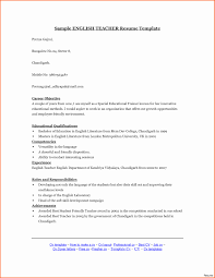 Curriculum English Example Awesome Sample English Teacher Resume
