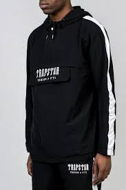 Trapstar Decoded Pullover Anorak Black White In 2019