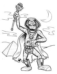 Small Picture Pharaoh Mummy Free Coloring Page Download Print Online
