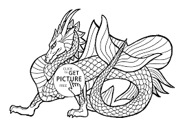 Dragon Coloring Pages Free For Viettiinfo