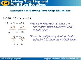 solving twostep 1 4 multistep