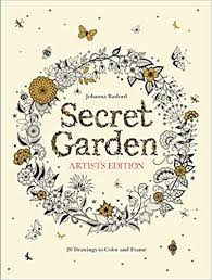 secret garden artist s edition 20 drawings to color and frame johanna basford 9781780677316 amazon books