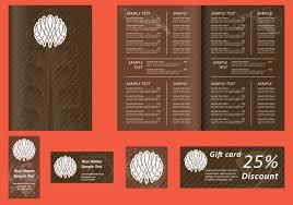 menu template vector art 7679 s brown menu templates
