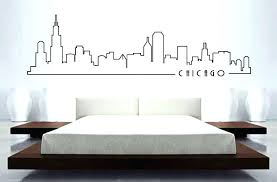 skyline mural wall sticker home decor building art bedroom car decal decoration in stickers from superhero city