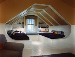 Slanted Roof Bedroom Loft Style Bedroom Design At The Attic Small Design Ideas
