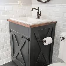 a farmhouse style diy bathroom vanity shanty 2 chic