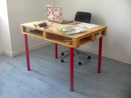 pallets furniture ideas. pallet desk with red legs pallets furniture ideas