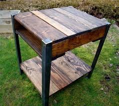 pallet furniture etsy. Reclaimed Wooden Pallet End Table Furniture Etsy
