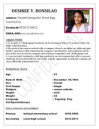 Resume Sales Lady