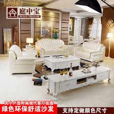 leather sofa combination living room coffee table tv cabinet furniture sets continental dining table combination package