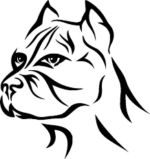 Car Styling For 2pcs Pit Bull Tribal Pitty Dog Vinyl Decal Sticker