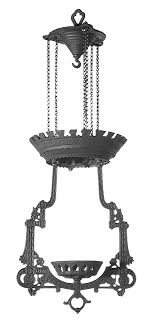 63601 lomax replica cast iron hanging lamp frame
