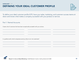 Client Profile Template How To Define Your Ideal Customer Profile For Account Based