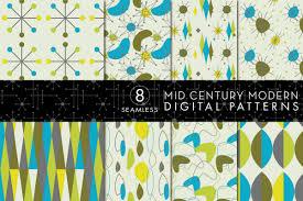 Mid Century Modern Resume Template 8 Seamless Mid Century Modern Patterns Set 2