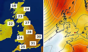 Uk Weather Forecast Met Office Chart Shows 31c Temperatures