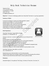 Help Desk Technician Resume Resume samples for help desk technician