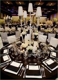 Black White Silver Wedding Decorations