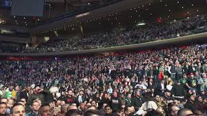 madison square garden is almost at capacity for the ufc 205 weigh ins yes the weigh