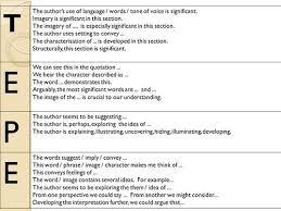 mr gray s blog gcse english literature tepe sentences