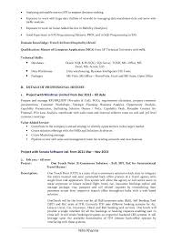 Business Analyst Resume Examples Business Analyst Resume Format