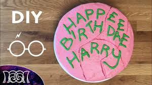 Harry Potter Birthday Cake Diy Youtube