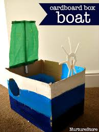 how to make a cardboard box boat craft