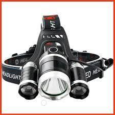 Đèn Pin Đội Đầu 3 Bóng Led T6 Siêu Sáng Tặng Kèm Sạc Và 2 Pin - Đèn pin  Nhãn hàng No brand