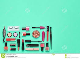Design Makeup Products Fashion Cosmetic Makeup Set Beauty Products Stock Image
