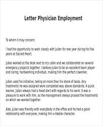 Work Letters Of Recommendation 9 Sample Physician Letter Of Recommendation Word Pdf