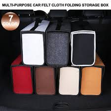 Trunk Organizer <b>Felt Cloth Foldable</b> Car SUV <b>Storage</b> Bag Cargo ...