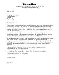 Cover Letter For A Design Job Graphic Design Cover Letter Sample Pdf