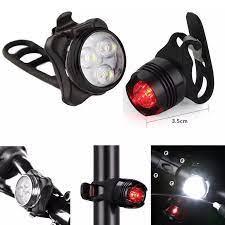 Đèn LED Xe Đạp Có Thể Sạc Lại Xe Đạp Đèn Bộ Ánh Sáng Phía Trước Đuôi Ánh  Sáng USB