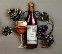 picture of red wine bottle vine and grapes wall art on wine and grapes metal wall art with cork emporium red wine bottle vine and grapes wall art