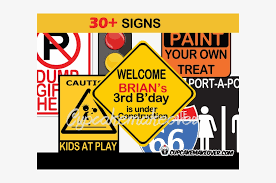 Printable Construction Signs Printable Construction Party Signs Childrens Party
