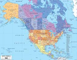 detailed clear large political map of north america  ezilon maps