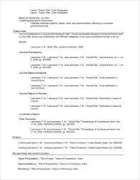 Good Resume Format A Good Resume Template Academic Resume Academic