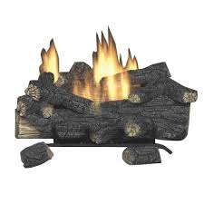 vent free propane gas fireplace logs with remote scvfr24l the home depot