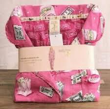 Details About Munki Miunki Womens 2 Piece Flannel Pajama Set Pink Pjs Large Movie Popcorn