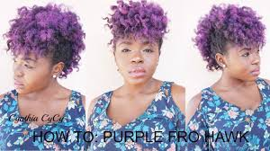 Mo Hock Hair Style styling bantu knot out purple mo hawkfro hawk youtube 6046 by stevesalt.us