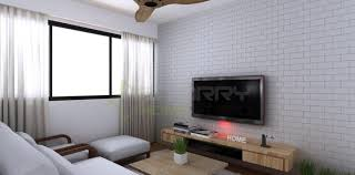 Glamorous Contemporary Interior With Texture Designs Interior White Brick Wall Living Room