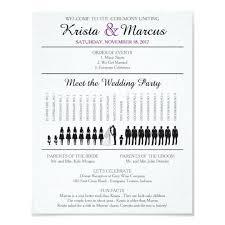 Fun Wedding Programs Fun Wedding Program Ideas Simple Silhouettes Wedding Program
