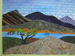 Linear Landscape Quilts | Landscape quilts, Fabric postcards and Craft & Linear Landscape Quilts Adamdwight.com