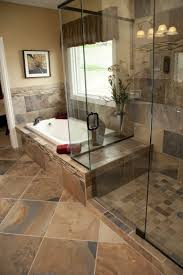 Glass Tubs Stone Bathroom Floor Natural Round Pebble Stone Wall Tile Chrome