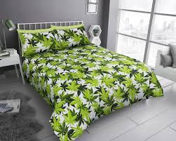 leaf print duvet cover set new double single king size quilt cans bedding