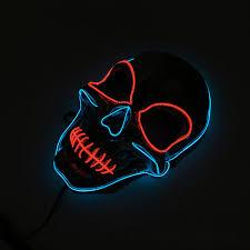 Light Up Skull Mask Silver Light Up Led Skeleton Skull Mask Halloween Holiday Light Costume Accessory