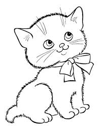 cat coloring page. Plain Page Cat Colouring Pages Color Page Animal Coloring Plate Sheet  Pertaining To Kitten Designs Pdf With A
