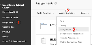 Creating Assignments Blackboard Help For Faculty