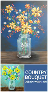 Decorate your home for fall with this fun mason jar with flowers canvas  Pumpkin Canvas PaintingIdeas ...