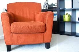 orange egg chair arm style in rust colour bargain cost a velvet armchair uk red dining